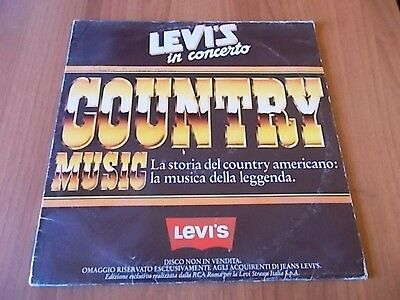 """12"""" promo LEVI'S IN CONCERTO - COUNTRY MUSIC 1982"""