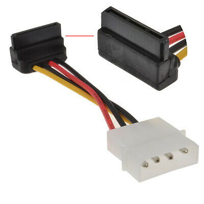 Right Angled SATA Power Converter Cable - Molex to RA SATA Power [001796]