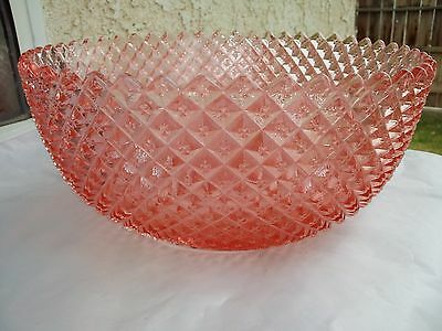 "Pink Miss America 8 3/4"" Straight Side Deep Fruit Bowl"