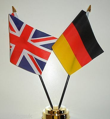 United Kingdom & Germany Federal Double Friendship Table Flag Set