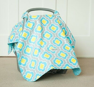 "Carseat Canopy Baby Car Seat Canopy Cover Blanket Cotton Brand New "" Kennedy """