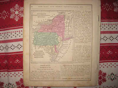 Antique 1866 New York Jersey Delaware Maryland Providence Rhode Island Map Nr