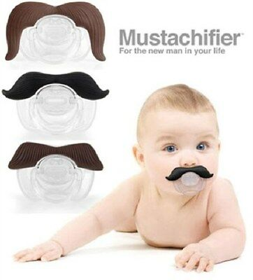 Mustachifier Mustache Pacifier Binkie Man Plug Funny Baby Silicone BPA Free