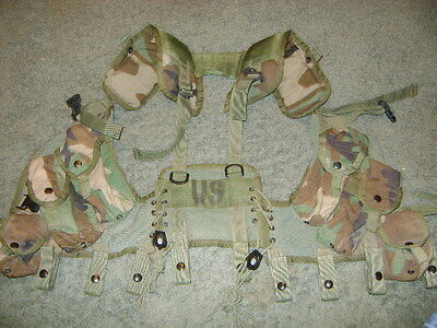 U.S.Military Tactical Enhanced Load Bearing Vest Woodland Excellent Condition!!
