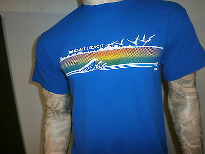 vtg 80s BEAULAH BEACH T SHIRT Lake Erie Camp Staff Lifeguard Beach Ohio