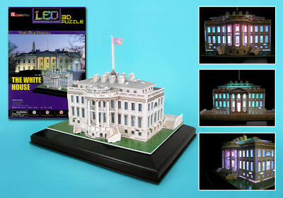 Museum Quality LED Lighted Architectural Model Donald Trump White House New