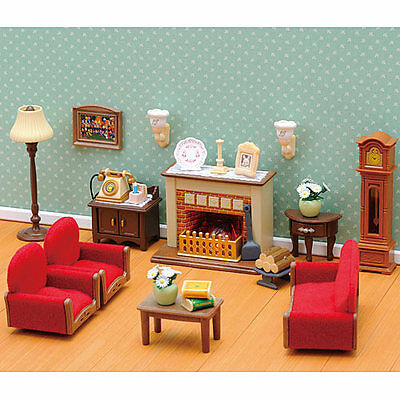 Sylvanian families large larchwood lodge house great lot l for Luxury living room furniture collection