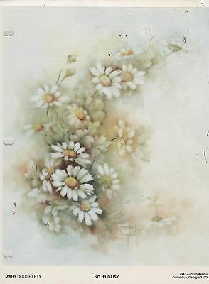#11 Daisy China Painting Study by Mary Dougherty 1978
