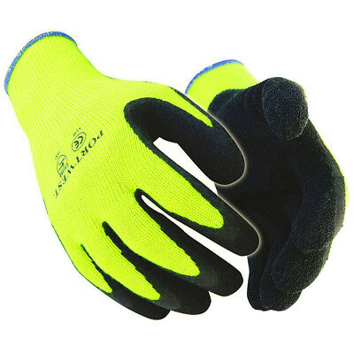 Portwest A140 Thermal Outdoor Builders Work Gripper Gloves High Visibility