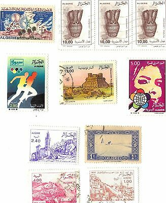 Algeria - Set Of 11 Stamps - 1936/1966/1982/1984/1988/1993/1995