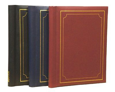 3 x Self adhesive Photo Albums 108 Sheets 216 Sides in Red Black & Blue SM72