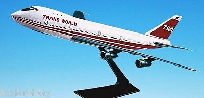 Flight Miniatures TWA Trans World Airlines OLD 1974 Boeing 747 100 1/250 Scale