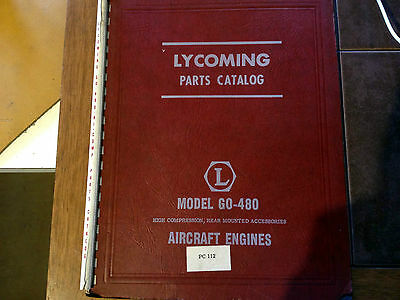 Lycoming GO-480 Hi Compression, Rear Mounted Accessories Engine Parts Manual