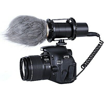 Movo VXR400 Pro Broadcast HD Condenser Stereo Microphone for DSLR Video Camera
