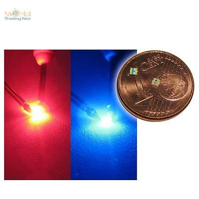 10 x SMD LED 0603 BICOLOR RED-BLUE 2-COLORED - RED BLUE
