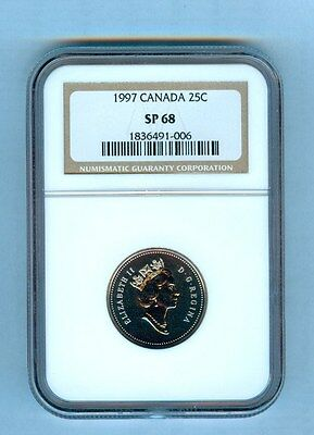 1997 Canada Twenty Five Cents  Ngc Sp-68