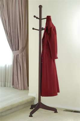 Winsome Coat Tree with 6 pegs in Antique Walnut - 94672