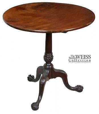 SWC-Fine Mahogany Chippendale Tilt-top table, England, c.1780