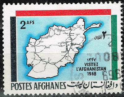Afganistan country map 1969