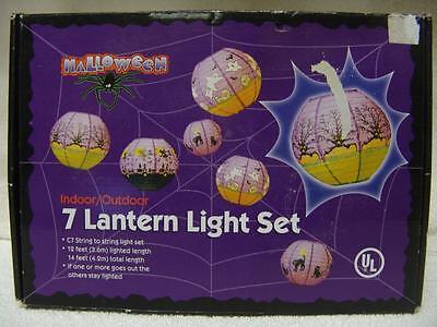Halloween 7 Lantern Light Set C7 Lights New W/orignal Box Free Shipping