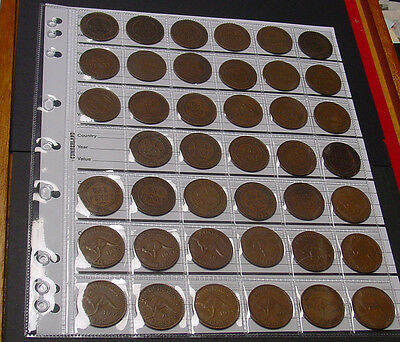 1911 to 1964 Penny set. Complete ex 1925, 1930, 1946, all other dates & mints.