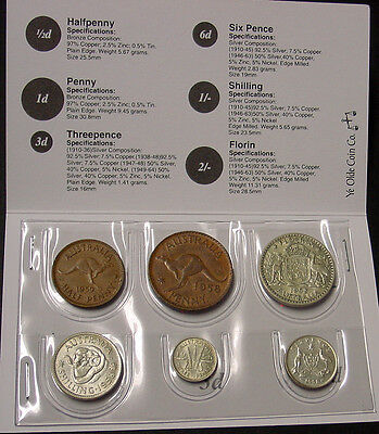 1958 Australian Coin Set in folder, nice 60th birth year gift! Read seller notes