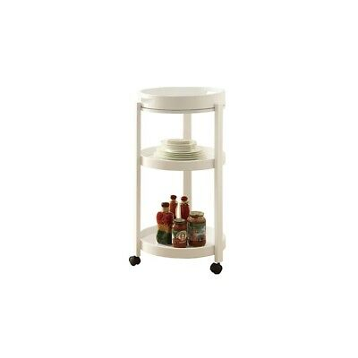 Monarch Specialties White Bar Cart With A Serving Tray On Castors - i3345