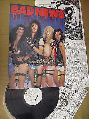 Bad News S/t 1987 Japan Rp28 5565 Brian May / Queen Lp 8 Tracks With 2 Inserts