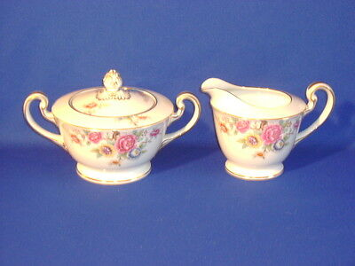 Noritake China N26 Creamer And Covered Sugar Set Excellent!