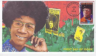 Jvc Cachets - 2014 Shirley Chisholm First Day Cover Fdc Black Heritage Topical 1