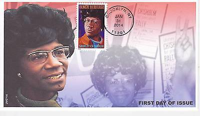 Jvc Cachets - 2014 Shirley Chisholm First Day Cover Fdc Black Heritage Topical 3