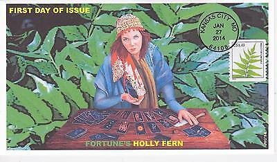 Jvc Cachets - 2014 Ferns Fortune Holly  Issue First Day Cover Fdc Plant Topical
