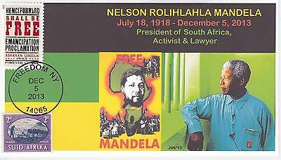 Jvc Cachets -  2013 Nelson Mandela Mourning/event Fdc Topical S. Africa Cover #1