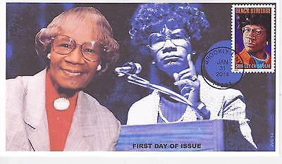 Jvc Cachets - 2014 Shirley Chisholm First Day Cover Fdc Black Heritage Topical 2