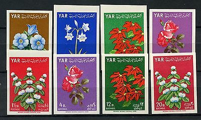 Yemen 1964 SG#298-305 Flowers MNH Imperf Set #A59108