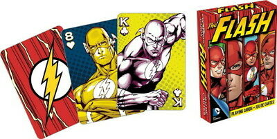 DC Comics The Flash Comic Art Illustrated Playing Cards 52 Images, NEW SEALED