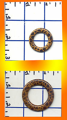 Cheetah Flat O-Ring Bikini Connector O Shape Knit Crochet Swimwear Costumes