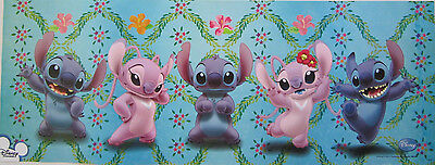 "DISNEY ""3 STITCHES & 2 ANGELS"" POSTER / BANNER FROM ASIA - Lilo & Stitch"
