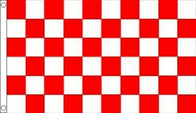 Red & White Chequered Racing Polyester Flags