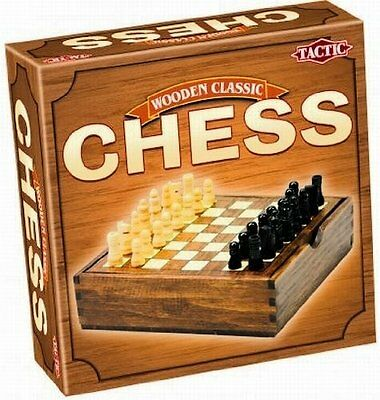 Chess: A Wooden Game Classic by Tactic - Ages 7+ - 2 Players - no 14024
