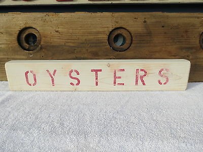21 Inch Wood Hand Painted Oysters Sign Nautical Maritime Seafood (#s422)