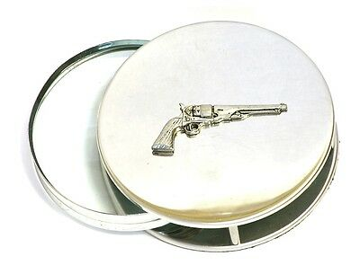 Revolver Pistol Magnifying Reading Glass Desktop Office Classic Vintage Gun Gift