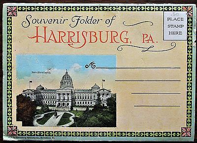 Souvenir Photo Folder - Harrisburg, Pennsylvania - 18 Views, 1920s