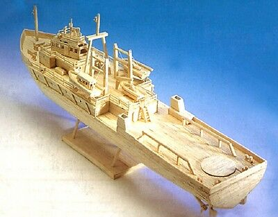 Oil Rig Support Vessel - matchstick model construction craft ship kit - NEW