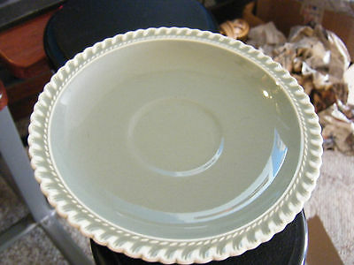 Harker Ware Pottery Pate Sur Pate Green Saucer Plate - AS IS