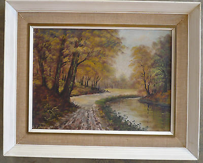 $395 Or Best!! Old River Trees Impressionist Impressionism Oil Wooded Landscape