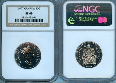 1997 Canada 50 Cents Ngc  Sp69   Finest Graded