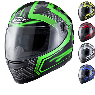 Shox Sniper Skar Full Face Motorbike Motorcycle Scooter Bike Helmet Ghostbikes