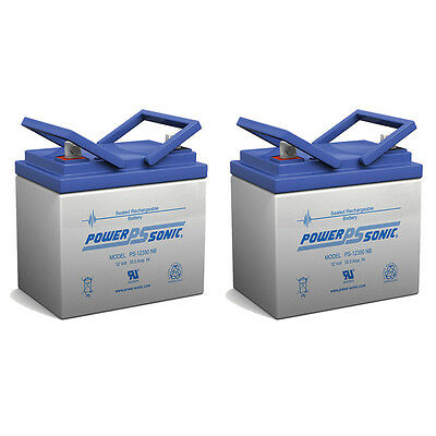 Power-Sonic 2 Pack - 12V 35Ah U1 Deep Cycle AGM Solar Battery Also Replaces 33Ah