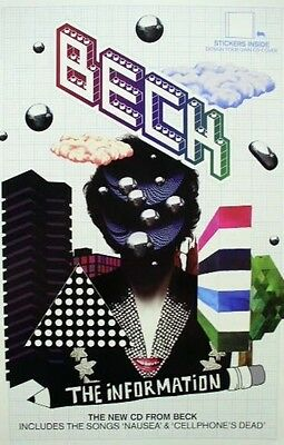 BECK 2006 the information promo poster ~MINT condition~NEW old stock~!!